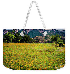 Wildflower Field In The Wichita Mountains Weekender Tote Bag by Tamyra Ayles