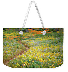 Wildflower Field Near Diamond Lake In California Weekender Tote Bag