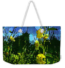 Weekender Tote Bag featuring the photograph Wildflower Field by Shawna Rowe