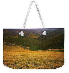 Wildflower Field Up In The Temblor Range At Carrizo Plain National Monument Weekender Tote Bag