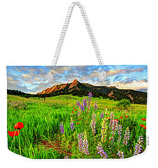 Wildflower Mix Weekender Tote Bag by Scott Mahon