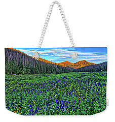 Weekender Tote Bag featuring the photograph Wildflower Park by Scott Mahon