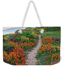 Wildflower Path At Ribera Beach Weekender Tote Bag