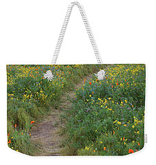 Weekender Tote Bag featuring the photograph Wildflower Trail At Diamond Lake In California by Jetson Nguyen