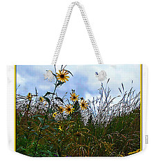 Weekender Tote Bag featuring the photograph Wildflowers And Mentor Marsh by Joan  Minchak