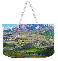 Wildflowers And Mt. St. Helens 4 Weekender Tote Bag