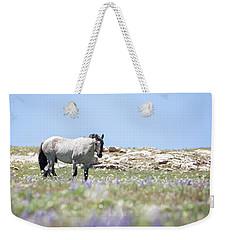 Wildflowers And Mustang Weekender Tote Bag