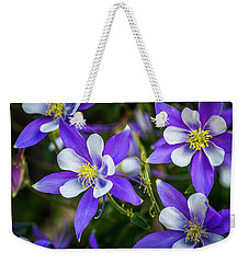 Wildflowers Blue Columbines Weekender Tote Bag by Teri Virbickis