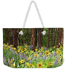Balsamroot And Lupine In A Ponderosa Pine Forest Weekender Tote Bag