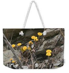 Wildflowers In Rocks Weekender Tote Bag