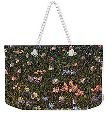 Weekender Tote Bag featuring the painting Wildflowers by James W Johnson