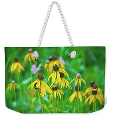 Weekender Tote Bag featuring the photograph Wildflowers Of Yellow by Bill Pevlor