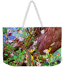 Wildflowers On A Cypress Knee Weekender Tote Bag