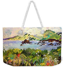 Wildflowers On Sonoma Coast Weekender Tote Bag