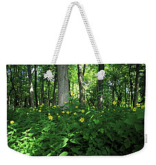 Wildflowers On The Edge Of The Forest Weekender Tote Bag