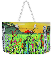 Wildflowers On The Farm Weekender Tote Bag