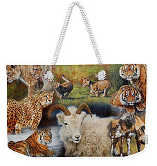 Wildlife Collage Weekender Tote Bag by David Stribbling