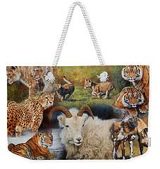 Wildlife Collage Weekender Tote Bag by David Stribbling