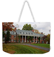 Wildwood Manor House In The Fall Weekender Tote Bag by Michiale Schneider