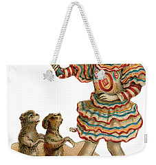 Weekender Tote Bag featuring the digital art Will Work For Food by ReInVintaged