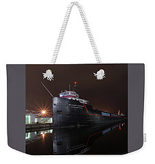 William G Mather At Night  Weekender Tote Bag