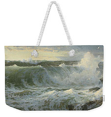 Weekender Tote Bag featuring the painting William Trost Richards American 1833  1905   Seascape by Artistic Panda