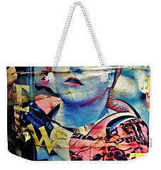 Williamsburg Brooklyn Woman Mural  Weekender Tote Bag by Funkpix Photo Hunter