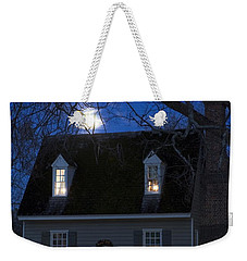 Williamsburg House In Moonlight Weekender Tote Bag