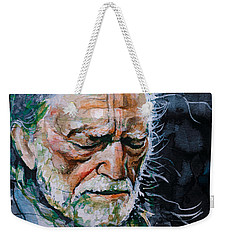 Willie Nelson 7 Weekender Tote Bag by Laur Iduc