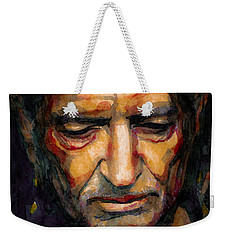 Willie Nelson Portrait 2 Weekender Tote Bag by Laur Iduc