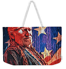 Willie Nelson Weekender Tote Bag by Taylan Apukovska