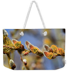 Willow Buds Weekender Tote Bag by Donna Kennedy