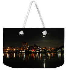 Wilmington Nc At Night Weekender Tote Bag