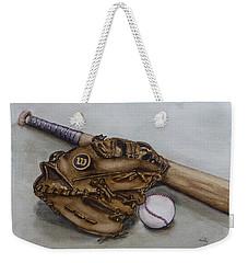 Wilson Baseball Glove And Bat Weekender Tote Bag