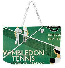 Wimbledon Tennis Southfield Station - London Underground - Retro Travel Poster - Vintage Poster Weekender Tote Bag