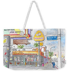 Winchells Donut House In Melrose And Detriot St., Hollywood, California Weekender Tote Bag