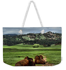 Wind Cave Bison Weekender Tote Bag