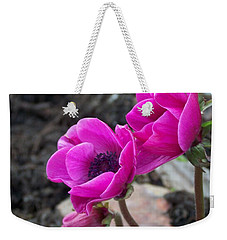 Weekender Tote Bag featuring the photograph Wind Flower by Victor K
