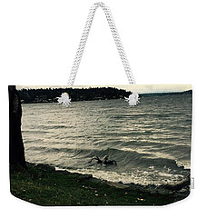 Wind Followed By Waves Weekender Tote Bag