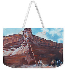 Wind Horse Canyon Weekender Tote Bag by Karen Kennedy Chatham