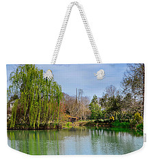 Weekender Tote Bag featuring the photograph Wind In The Willo by Linda Brown