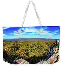 Wind Rock Panorama Weekender Tote Bag