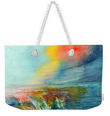 Weekender Tote Bag featuring the painting Wind Swept by Allison Ashton