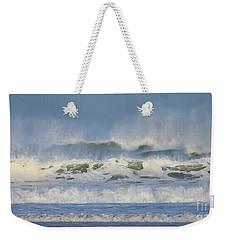 Wind Swept Waves Weekender Tote Bag by Nicholas Burningham