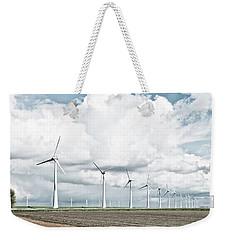 Wind Turbines Landscape Weekender Tote Bag