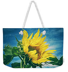 Weekender Tote Bag featuring the photograph Windblown  by Karen Stahlros