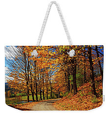 Winding Country Road In Autumn Weekender Tote Bag