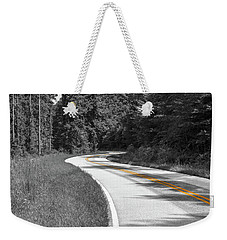 Weekender Tote Bag featuring the photograph Winding Country Road In Selective Color by Doug Camara