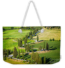 Winding Cypress Lined Road Of Monticchiello Weekender Tote Bag by IPics Photography