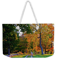 Winding Road In Autumn Weekender Tote Bag
